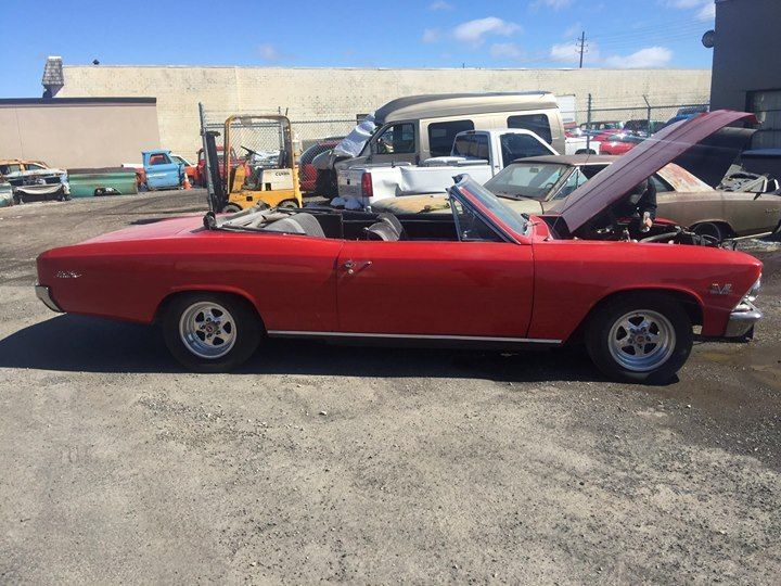 needs finishing 1966 Chevrolet Chevelle convertible