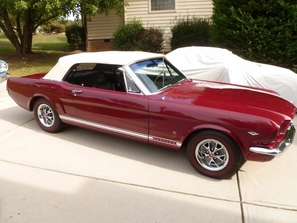 older restoration 1966 Ford Mustang Convertible