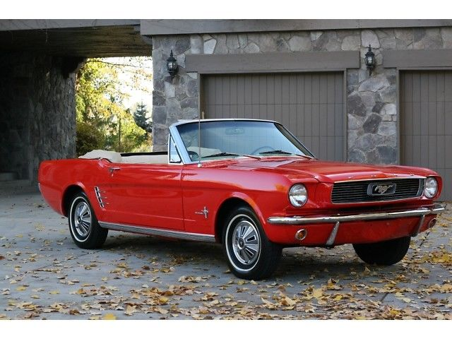 perfect shape 1966 Ford Mustang Convertible