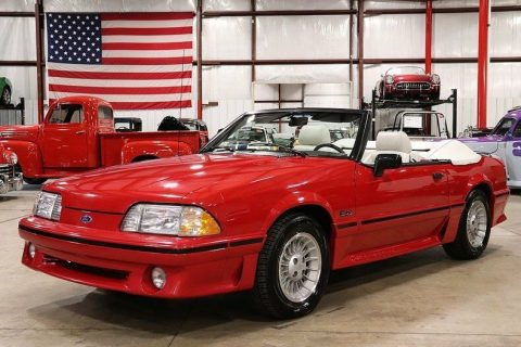 low mileage 1989 Ford Mustang GT Convertible for sale
