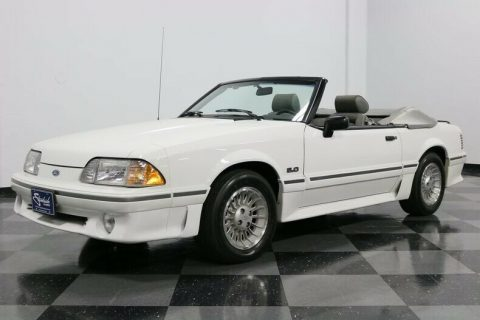 very low miles 1989 Ford Mustang GT convertible for sale