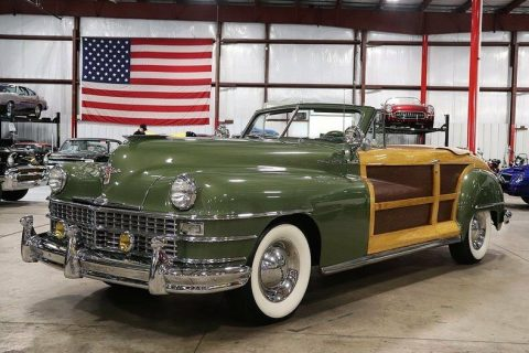 low miles 1948 Chrysler Town and Country Convertible for sale