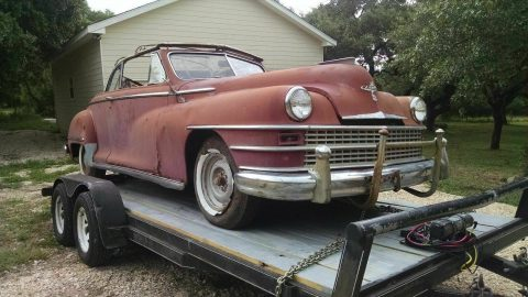 project 1948 Chrysler Windsor Convertible for sale