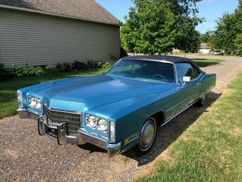 low miles 1971 Cadillac Eldorado convertible for sale