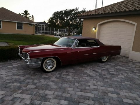 new interior and roof 1965 Cadillac DeVille Convertible for sale