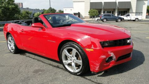 minor damage 2012 Chevrolet Camaro 1LT Convertible for sale