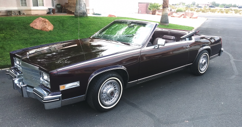 well serviced 1985 Cadillac Eldorado Convertible for sale