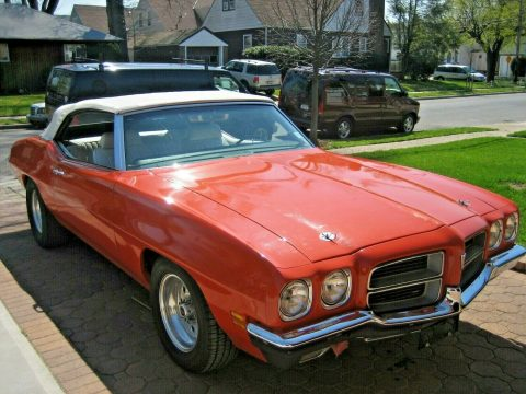 big block 1972 Pontiac Le Mans Convertible for sale