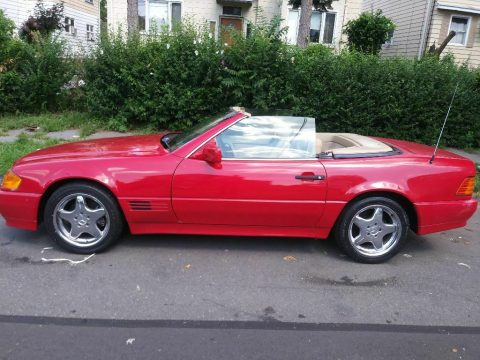 clean 1991 Mercedes Benz SL 320 convertible for sale