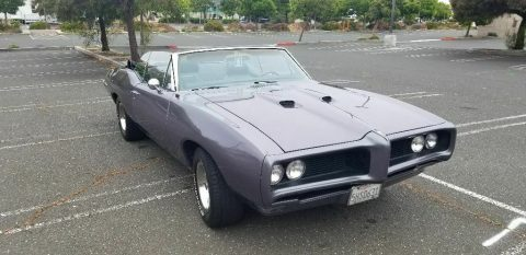 newer suspension 1968 Pontiac Le Mans convertible for sale