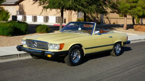 all original 1974 Mercedes Benz SL Class 450 SL convertible for sale
