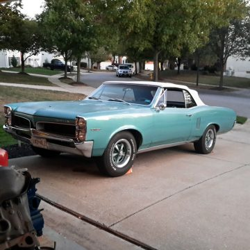 needs work 1967 Pontiac Le Mans Convertible for sale