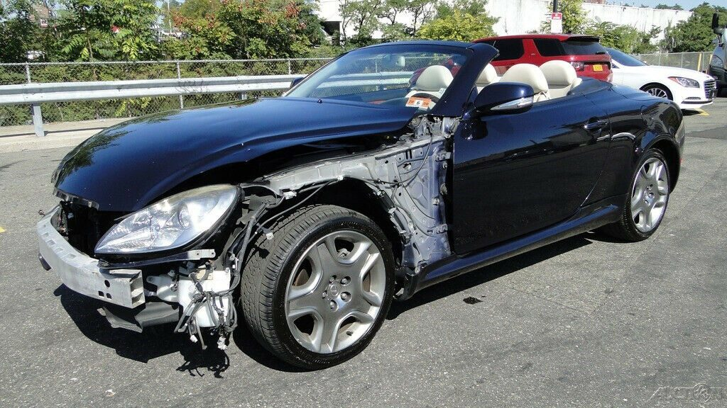 repairable 2009 Lexus SC 4.3L V8 Automatic 6 Speed Convertible