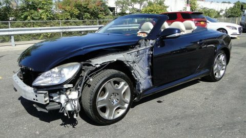 repairable 2009 Lexus SC 4.3L V8 Automatic 6 Speed Convertible for sale