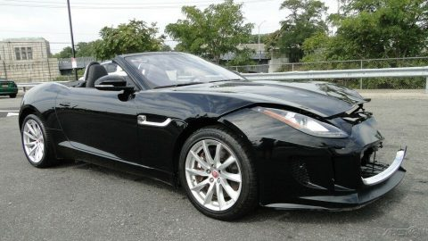 repairable 2017 Jaguar F Type 3.0L V6 Supercharger convertible for sale