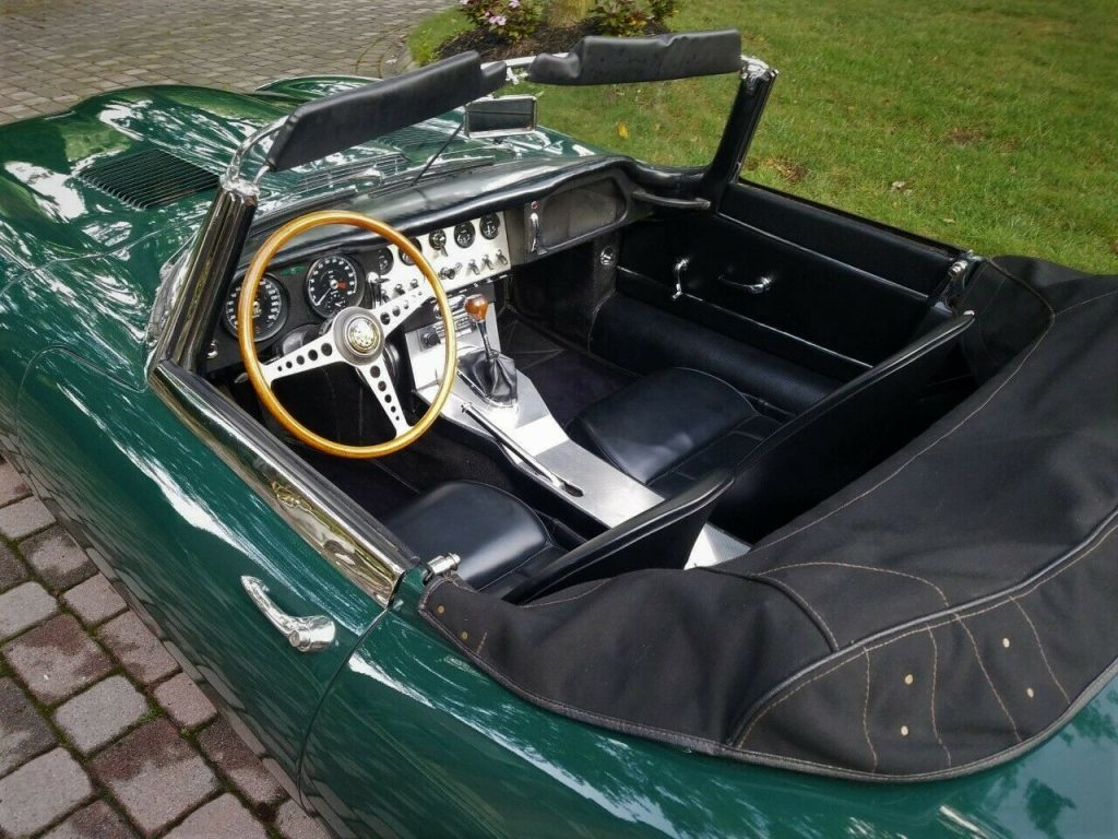 recently maintained 1962 Jaguar E Type Roadster convertible