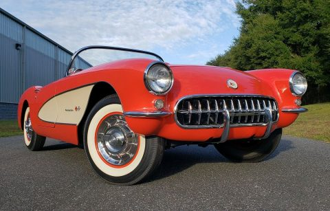 restored 1957 Chevrolet Corvette Fuel Injected 4 Speed convertible for sale