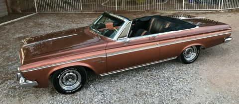 sharp 1963 Plymouth Fury Sport Convertible for sale