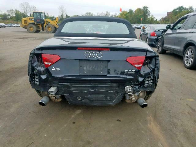 damaged 2012 Audi A5 convertible