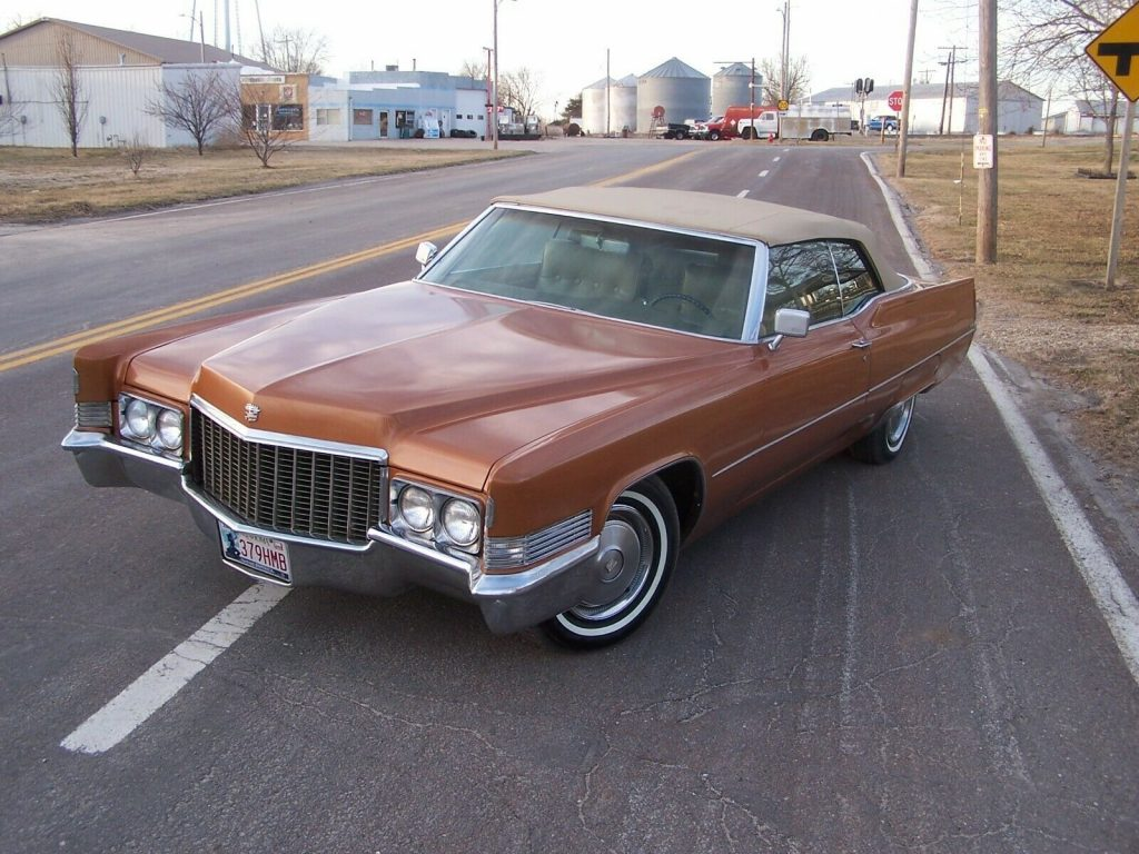 classic 1970 Cadillac Deville Convertible