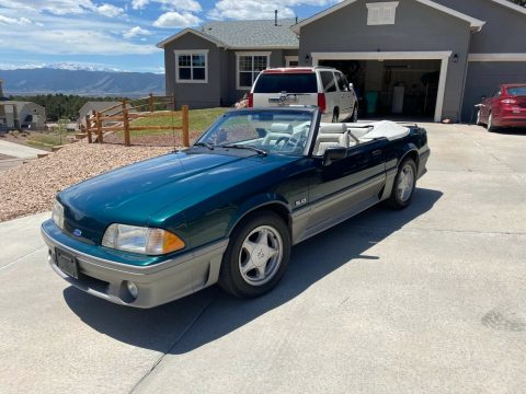 rare color 1991 Ford Mustang GT Convertible for sale