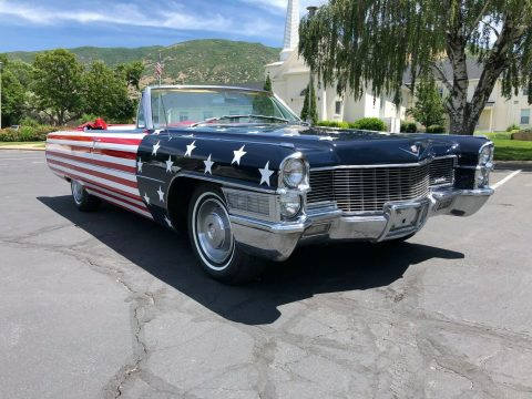flag paint 1965 Cadillac DeVille Convertible for sale