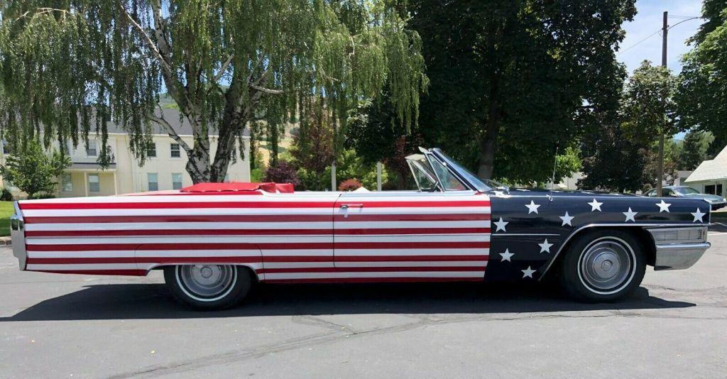 flag paint 1965 Cadillac DeVille Convertible