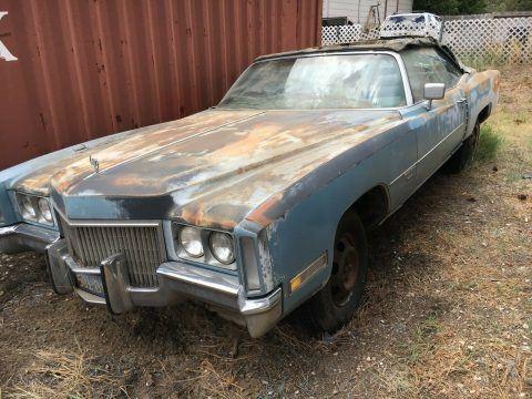 Non Running 1971 Cadillac Eldorado Convertible for sale