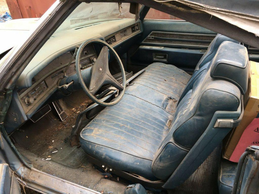Non Running 1971 Cadillac Eldorado Convertible