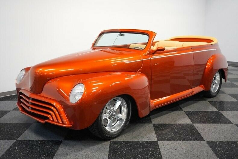 Restored 1947 Ford Roadster hot rod convertible
